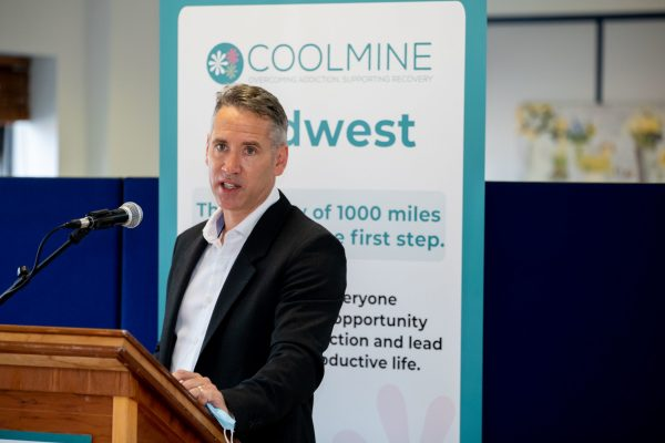 16.07.21.             On Friday 16th July 2021, Frank Feighan TD, Minister of State for Public Health, Well Being and National Drugs Strategy, formally opened the Coolmine Mid-West Community and Day Service in Mahon House, William Street, Limerick. The event marks the first phase of the service development to establish the Mid-West Residential treatment service for homeless women and their children. Minister Feighan also launched Coolmine's 2020 Annual Report.   Pictured during the opening was David McPhillips, Manager Mid West Service Coolmine. Picture: Alan Place