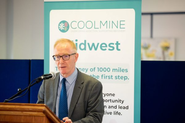 16.07.21.             On Friday 16th July 2021, Frank Feighan TD, Minister of State for Public Health, Well Being and National Drugs Strategy, formally opened the Coolmine Mid-West Community and Day Service in Mahon House, William Street, Limerick. The event marks the first phase of the service development to establish the Mid-West Residential treatment service for homeless women and their children. Minister Feighan also launched Coolmine's 2020 Annual Report. Picture: Alan Place